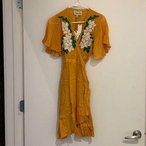 Cleobella wrap dress Anthropologie